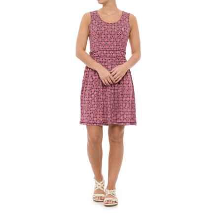 White Sierra Tangier Mosaic Dress - Sleeveless (For Women) in Watermelon - Closeouts
