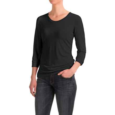 White Sierra Tangier Shirt - 3/4 Sleeve (For Women) in Black - Closeouts