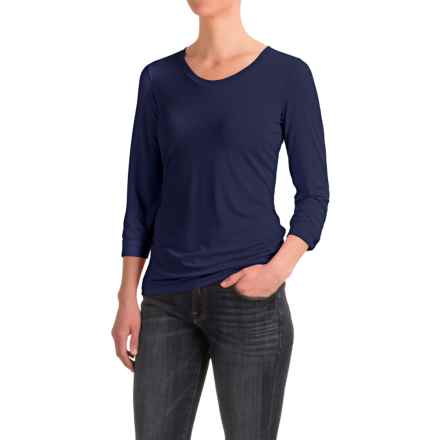 White Sierra Tangier Shirt - 3/4 Sleeve (For Women) in Evening Blue - Closeouts