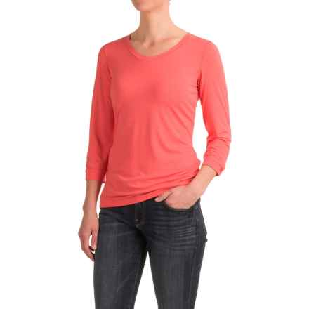 White Sierra Tangier Shirt - 3/4 Sleeve (For Women) in Watermelon - Closeouts