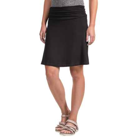 White Sierra Tangier Skirt - Stretch Rayon (For Women) in Black - Closeouts