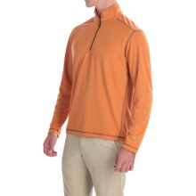 White Sierra Techno Shirt - UPF 30, Zip Neck, Long Sleeve (For Men) in Apricot - Closeouts