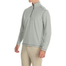 White Sierra Techno Shirt - UPF 30, Zip Neck, Long Sleeve (For Men) in Ash - Closeouts