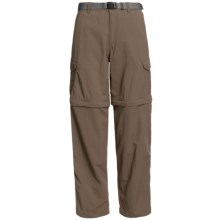 White Sierra Teton Convertible Trail Pants - UPF 30, Zip-Off Legs (For Women) in Bark - Closeouts