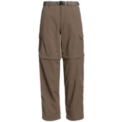 White Sierra Teton Convertible Trail Pants - UPF 30, Zip-Off Legs (For Women) in Stone