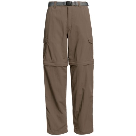 White Sierra Teton Convertible Trail Pants - UPF 30, Zip-Off Legs (For Women) in Bark