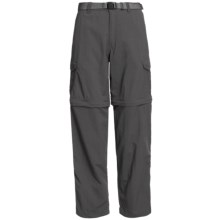 White Sierra Teton Convertible Trail Pants - UPF 30, Zip-Off Legs (For Women) in Caviar - Closeouts