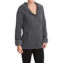 White Sierra Three Creeks Hooded Jacket (For Women) in Charcoal Heather/Black - Closeouts
