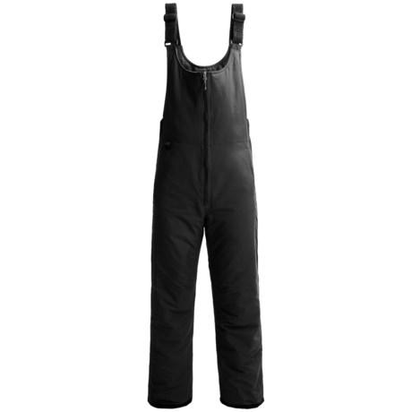 White Sierra Toboggan Snow Bibs - Insulated (For Men) in Black