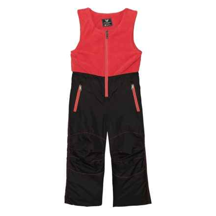 White Sierra Toboggan Snow Bibs - Insulated (For Toddler Girls) in Holly Berry - Closeouts