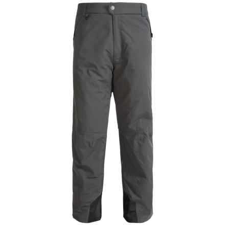 White Sierra Toboggan Snow Pants - Insulated (For Big Men) in Asphalt - Closeouts