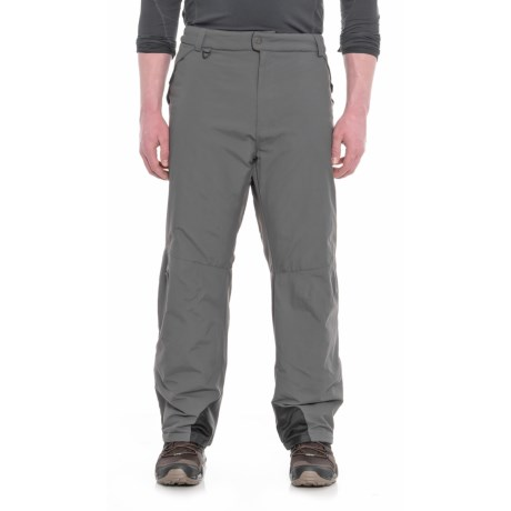 White Sierra Toboggan Snow Pants - Insulated (For Big Men) in Caviar