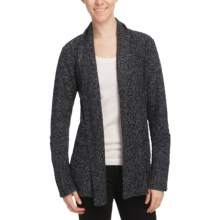 White Sierra Top Notch Cardigan Sweater (For Women) in Caviar - Closeouts