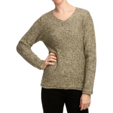 White Sierra Top Notch V-Crew Sweater (For Women) in Stone - Closeouts