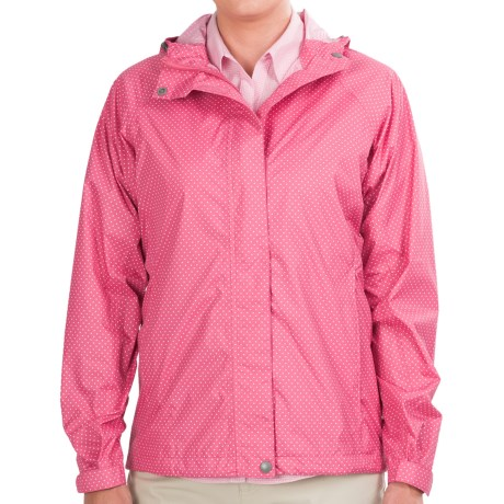 White Sierra Trabagon Jacket - Waterproof (For Women) in Pink Sunset