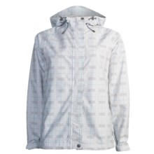 White Sierra Trabagon Jacket - Waterproof (For Women) in White Plaid - Closeouts