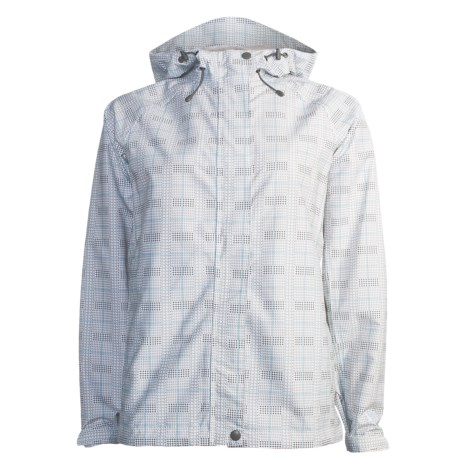 White Sierra Trabagon Jacket - Waterproof (For Women) in White Plaid