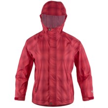 White Sierra Trabagon Jacket - Waterproof (For Youth) in Hibiscus Plaid - Closeouts