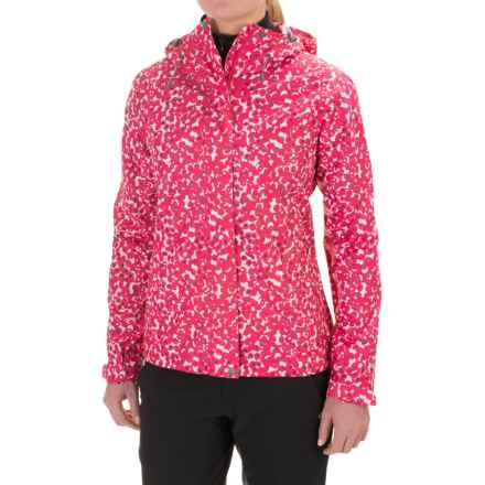 White Sierra Trabagon Printed Rain Jacket (For Women) in Raspberry - Closeouts