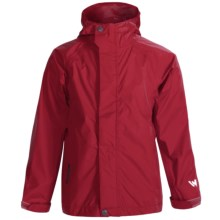 White Sierra Trabagon Rain Jacket - Waterproof (For Big Kids) in Biking Red - Closeouts