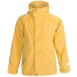 White Sierra Trabagon Rain Jacket - Waterproof (For Big Kids) in Bright Yellow