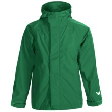 White Sierra Trabagon Rain Jacket - Waterproof (For Big Kids) in Fir - Closeouts