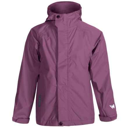 White Sierra Trabagon Rain Jacket - Waterproof (For Big Kids) in Grape - Closeouts