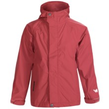 White Sierra Trabagon Rain Jacket - Waterproof (For Big Kids) in Hibiscus - Closeouts