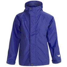 White Sierra Trabagon Rain Jacket - Waterproof (For Big Kids) in Nautical Blue - Closeouts