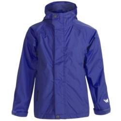 White Sierra Trabagon Rain Jacket - Waterproof (For Big Kids) in Black
