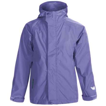 White Sierra Trabagon Rain Jacket - Waterproof (For Big Kids) in Periblue - Closeouts