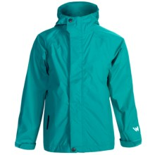 White Sierra Trabagon Rain Jacket - Waterproof (For Big Kids) in Vivid Green - Closeouts