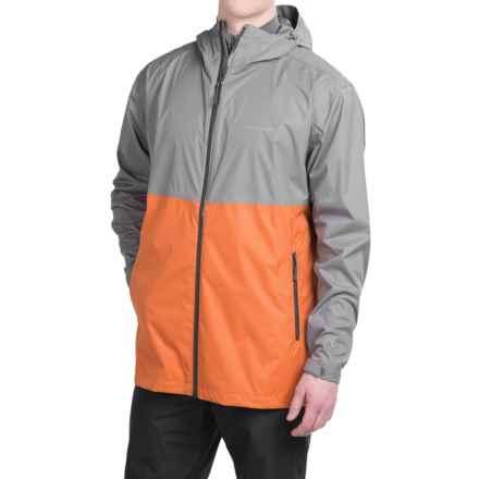 White Sierra Trabagon Rain Jacket - Waterproof (For Men) in Dark Grey/Spice - Closeouts