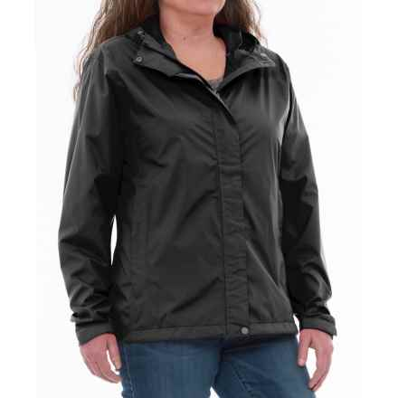 White Sierra Trabagon Rain Jacket - Waterproof (For Plus Size Women) in Black - Closeouts