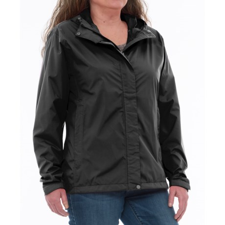White Sierra Trabagon Rain Jacket - Waterproof (For Plus Size Women) in Black