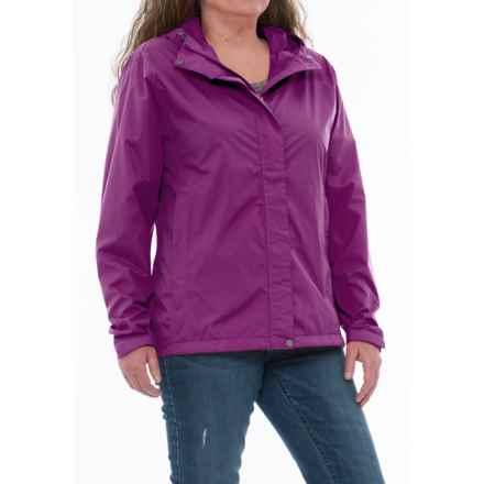 White Sierra Trabagon Rain Jacket - Waterproof (For Plus Size Women) in Dark Purple - Closeouts