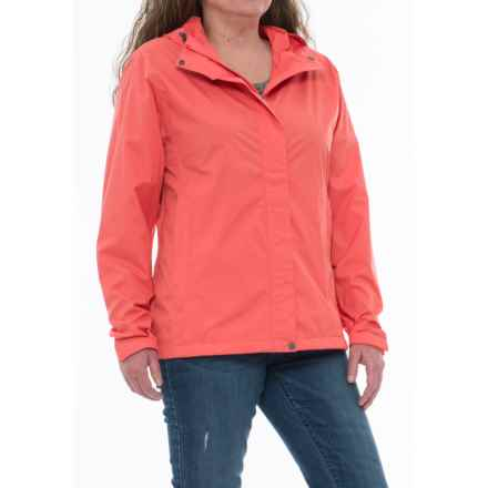 White Sierra Trabagon Rain Jacket - Waterproof (For Plus Size Women) in Watermelon - Closeouts