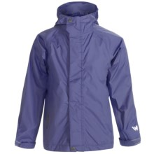 White Sierra Trabagon Rain Jacket - Waterproof (For Youth) in Dark Violet - Closeouts