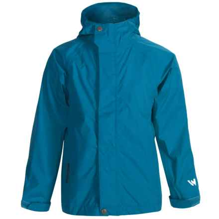White Sierra Trabagon Rain Jacket - Waterproof (For Youth) in Imperial Blue - Closeouts