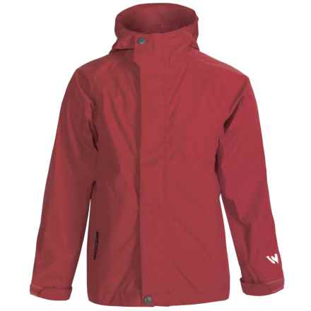 White Sierra Trabagon Rain Jacket - Waterproof (For Youth) in Racing Red - Closeouts