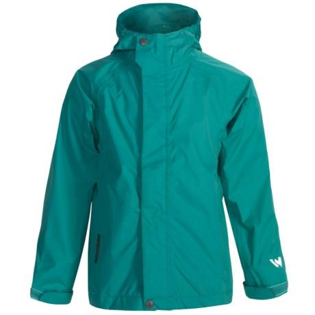 White Sierra Trabagon Rain Jacket - Waterproof (For Youth) in Viridian Green