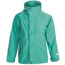 White Sierra Trabagon Rain Jacket - Waterproof (For Youth) in Black