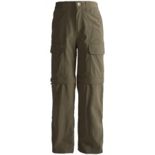 White Sierra Trail Convertible Pants - UPF 30 (For Youth) in New Sage - Closeouts