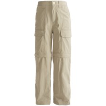 White Sierra Trail Convertible Pants - UPF 30 (For Youth) in Stone - Closeouts