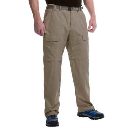 White Sierra Trail Pants - Convertible (For Men) in Bark - Closeouts