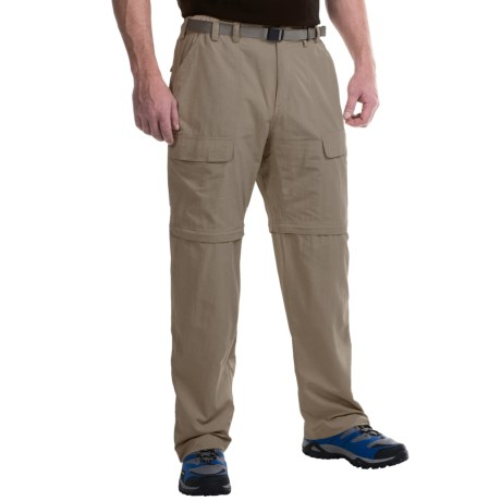 White Sierra Trail Pants - Convertible (For Men) in Stone