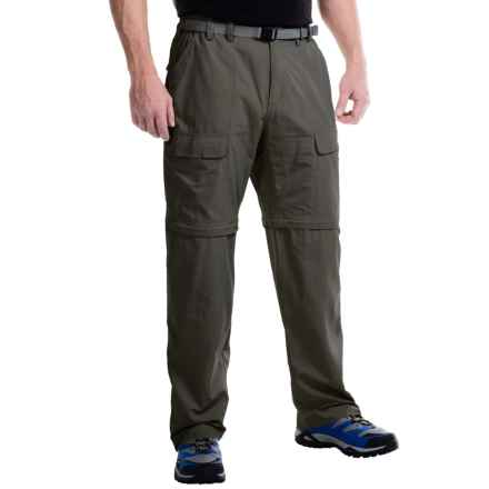 White Sierra Trail Pants - Convertible (For Men) in Caviar - Closeouts