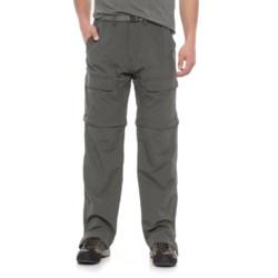 White Sierra Trail Pants - Convertible (For Men) in Caviar