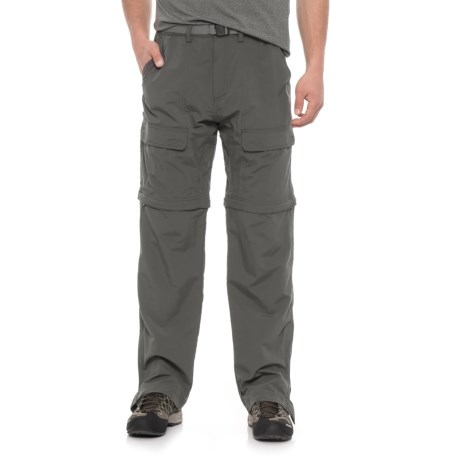 White Sierra Trail Pants - Convertible (For Men) in Caviar