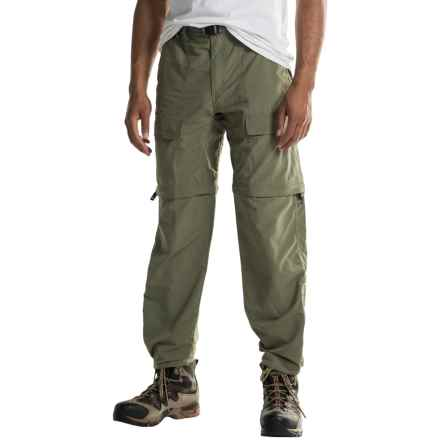 White Sierra Trail Pants - Convertible (For Men) in Deep Lichen Green - Closeouts